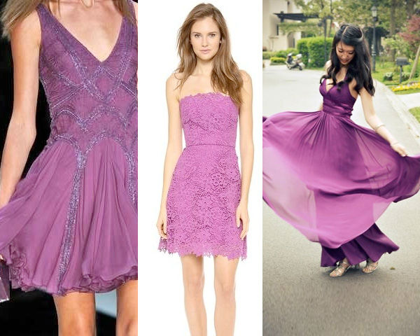 Radiant-Orchid-colored-dresses