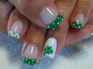 unhas Saint Patricks day