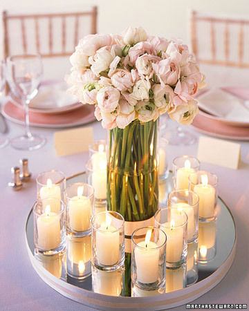 Loose-Flowers-Styrofoam-Riser-Votive-Candles-Wedding-Decor-Centerpiece-with-mirror