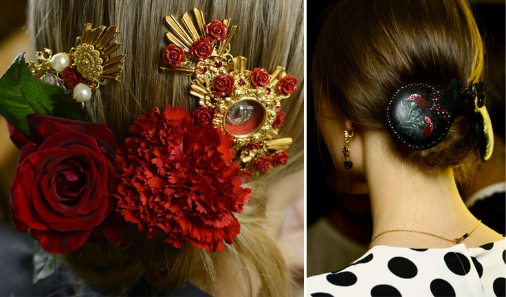 dolce-and-gabbana-spring-summer-2015-fashion-show-makeup-and-hair-buns